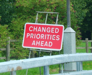 Changed priorities ahead EDIT