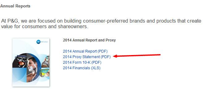 P&G proxy