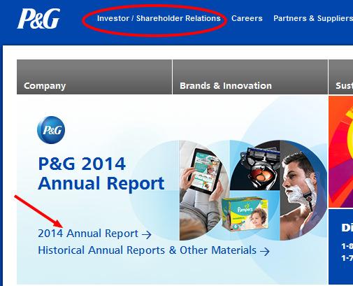 P&G website
