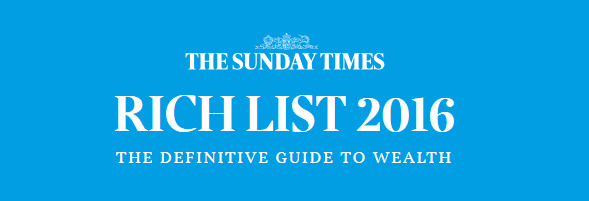The Sunday Times Rich List 2016