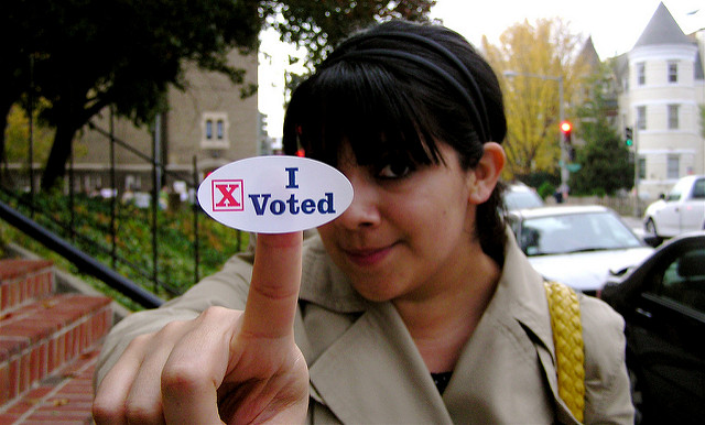 """I Voted"" photo by Valerie Hinojosa via Flikr"