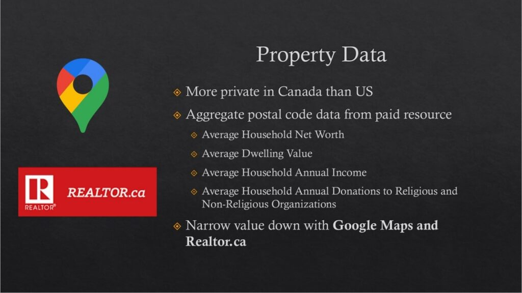 Title: Conducting Prospect Research in Canada (Property Data) Presenter(s): Andrea Reed